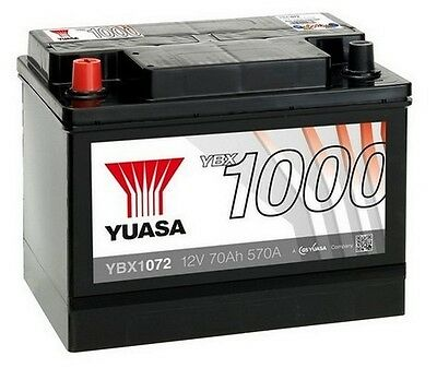 YUASA 12V Car Battery YBX1072 072 Alfa Romeo, Land Rover, MG MGB, SAAB