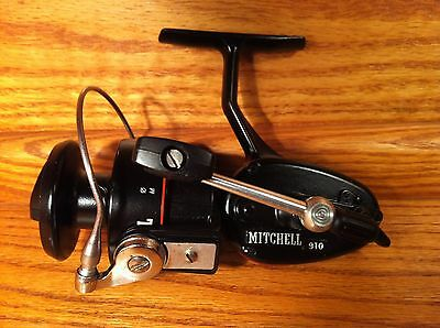 Extremely Rare Black Mitchell 910 Spinning Fishing Reel. Collector Quality.