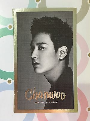 CHANWOO IKON Debut Full Album Welcome Back OFFICIAL PHOTOCARD