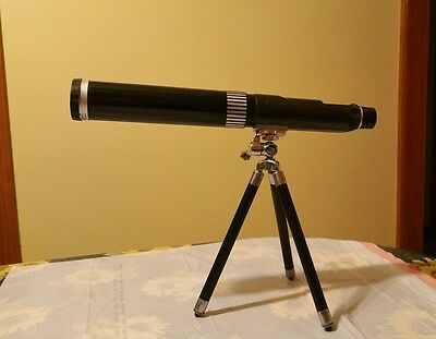 Vintage Selsi Telescope 13-40 power D=40 Mm Zoom Telescope adjustable no stand