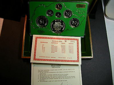 S-72: Scarce Singapore 1979 PROOF Set, c/w Certs, No 3302 in Teak Box