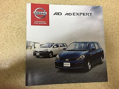 2014 NISSAN AD AD EXPERT AD VAN VY12 Y12 Japanese Brochures Catalogs