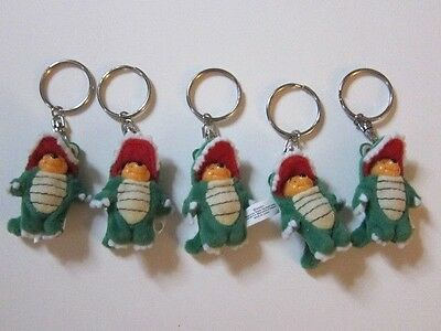 Lot of 5 NEW Disney Winnie the Pooh in Alligator Outfit Keychains Collectible