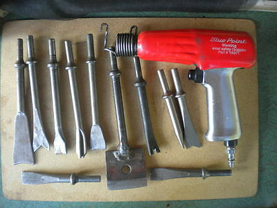 Snap On Air Chisel Hammer with 11 Bits Clean Tested Works Great