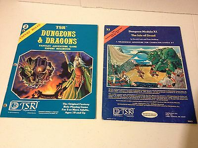 D&D Expert Set Rulebook w/ Module X1 The Isle of Dread Dungeons and Dragons