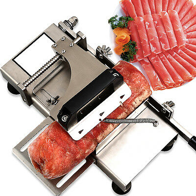 304 Stainless Steel Manual Frozen Meat Slicer Handle Meat Cutting Machine