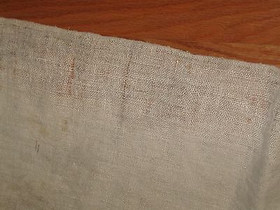 Homespun Natural Jute Linen antique fabric feedsack material 4.25 YDS WASHED