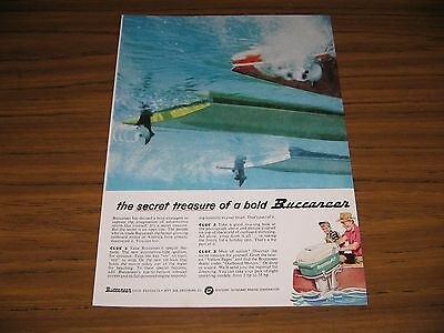 1958 Print Ad Buccaneer Outboard Motors Gale Galesburg,IL