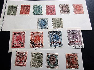 ERITREA stamps lot!  Old overprints mint & used!  Asmara Italy colony Africa