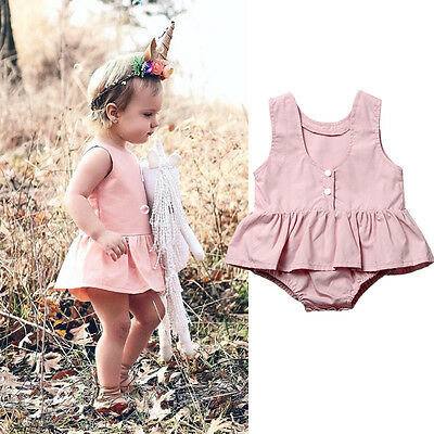 Newborn Kids Baby Girls Clothes Floral Outfits Lace Jumpsuit Romper Playsuit New
