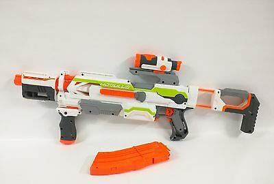 Nerf N-Strike Modulus ECS-10 Blaster Dart Gun Banana Clip & Scope