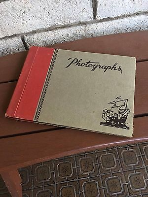 Antique Vintage Photo Album - Small 38 pages