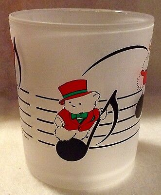 Vintage Santabear Glass And His Polar Club 1988 Dayton Hudson's X 4 Acrylic14 oz
