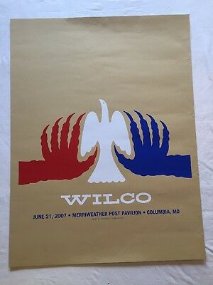 Vintage Wilco 2007 Concert Poster By Dirk Fowler, Dove, Claws, Screen Print