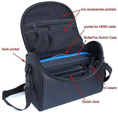Nintendo Switch Carry All  Bag Case for Dock, AC Adapter & Switch Pro-controller