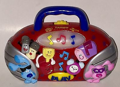 RARE! Blue's Clues Boom Box Buddy Light Up Musical RED Radio W/Changing Tempo