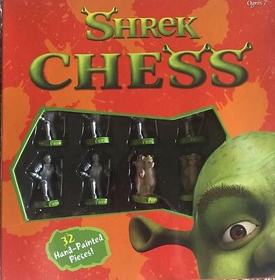 Shrek Chess Collectible Beautiful Hand painted pieces- customized game board