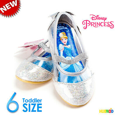 Disney Toddler Girls Princess Cinderella Ballet Flats Sparkling Shoe Size 6 NEW