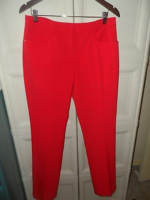 NIVO LADIES RED GOLF TROUSERS- suit size 12- RRP $110.00