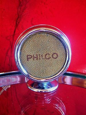 Vintage RARE 1940's Philco microphone old used midcentury old chrome w stand