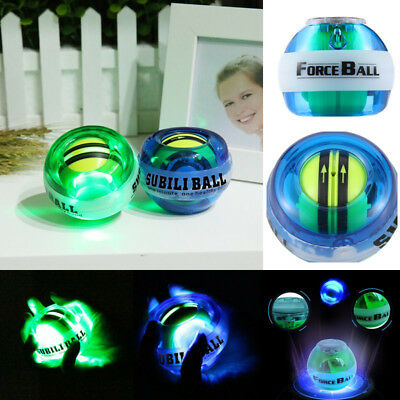 HOT PowerBall Wrist Ball Forearms Exercise Arm Strengthener LED Force Ball