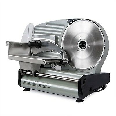 "Meat Slicer Electric 8.7"" Blade Cutter Commercial Kitchen Food Veggies 180-Watt"