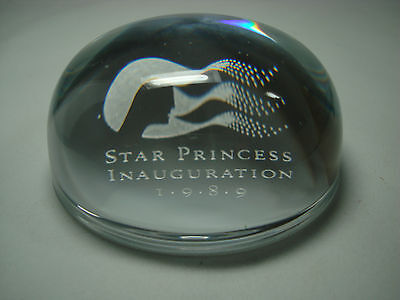 Star Princess Inauguration 1989 Crystal Paperweight