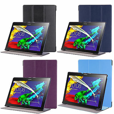 """For 10.1"""" Lenovo Tab2 A10-30 Tablet Slim Leather Smart Case Cover Stand"""