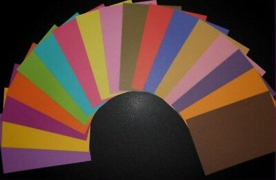 "Scrapbooking/Cardmaking Papers ""PLAIN COLOURED""   X 17 - 15cm x 10cm (6"" x 4"")"