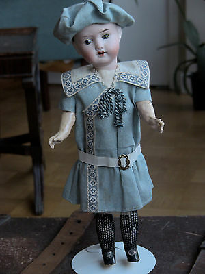 ALL ORIGINAL antique bisque Steiner Doll  w/ factory dress hat shoes stockings