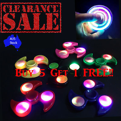 LED Lights Fidget Hand Spinners Finger Toys Stress Reliever For Kids & Adults AU
