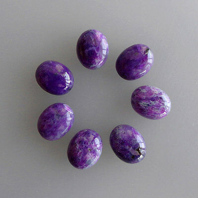 3x5MM Natural Dark Purple Sugilite Lot, Oval Shape, Calibrated Cabochons AG-217