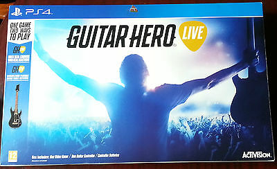 Guitar Hero Live Game with Guitar Controller Playstation 4 PS4
