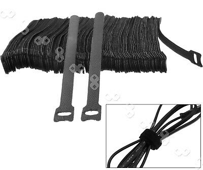 100pcs Nylon Cable Ties Cord Hook Loop Strap Wrap Reusable Electrical AU Stock
