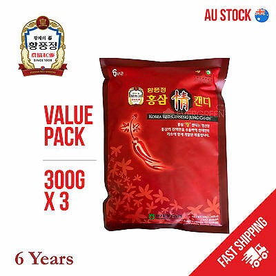 6 Years Korean Red Ginseng Candy 300g x 3 VALUE PACK / STOCK CLEARANCE SALE