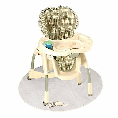 J is for Jeep Baby High Chair Floor Protector, Clear, Plastic, Toddler Booster