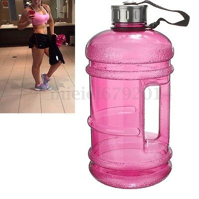 2.2L Large BPA Free Sport Gym Drink Water Bottle Cap Kettle Training Camping