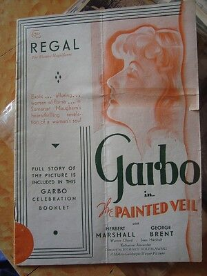 Old vintage Regal cinema  Booklet from India 1933