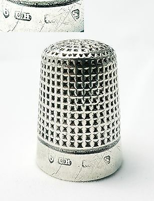 Antique Sterling Silver Thimble Charles Horner Chester 1900 (size 6)