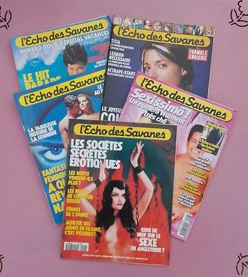 Lot De 5  Revues Magazines  Echo Des Savanes