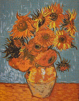 Tapestry Gobelin Needlepoint Kit  printed canvas Sunflowers Van Gogh 291