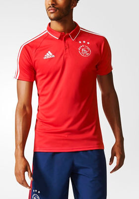 Ajax Amsterdam Adidas climalite Polo Maillot Shirt Homme Rouge 2017 18