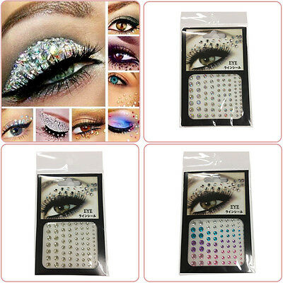 81x Eye Gem Acrylic Reusable Self Adhesive Diamante Crafts Body Face Painting