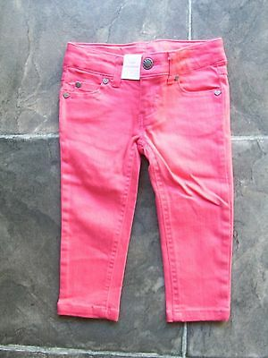 BNWT Girl's Pink Stretch Denim Jeans Size 1
