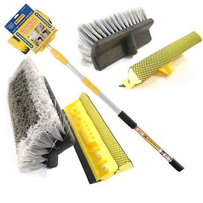 New 3M 9Ft Aluminium Telescopic Water Fed Window Car Van Wash Brush Squeegee