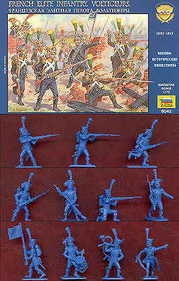 1:72 Figuren 8042 French Voltigeurs Elite Infantry 1805-14 - Zvezda Rarität