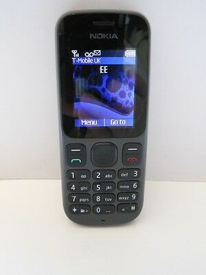 Original Nokia 100 Phone With Charger.phantom Black Released 2011 Working