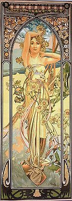 "Gobelin Tapestry Needlepoint Kit ""Mucha-Brightness of Day"" printed canvas 332"