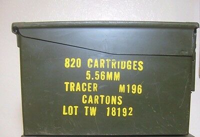 Ammo Box Standard Size Can Box Army Surplus 5.56