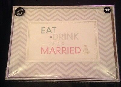 M&S Eat Drink & Be Married Wedding Guest Book RRP £12 BNIB
